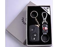 Подарочный набор (Lexus) 2в1 Зажигалка, Брелок №4430-4