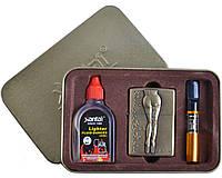 Подарочный набор SEXY 3в1 Зажигалка, бензин, мундштук №4713-4