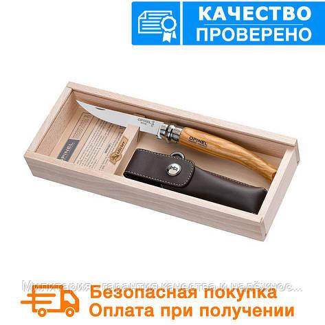Складной нож Opinel (опинель) Slim Inox Steel №10 VRN с чехлом в пенале (001090), фото 2