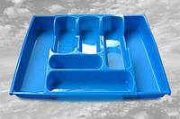 Лоток раздвижной для столовых приборов Консенсус голубой