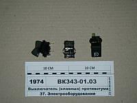 Выключатель (клавиша) противотуманных фар (Автоарматура, С-Пб) ВК343-01.03