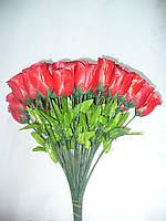 Роза бутон, 5 расцветок, 40 см (100 шт в упаковке), фото 1