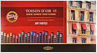 Мелки сухие пастельные KOH-I-NOOR Toison Dor набор 48шт. 8516