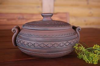 Глиняний горщик для запікання домашньої ковбаси