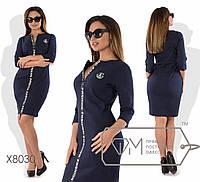 Платье из джинс-трикотажа. Большие размеры, батал. Разные цвета