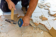 Демонтаж плитки, мозаики или декоративного камня