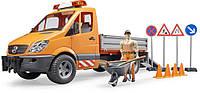 Автомобиль Bruder MB Sprinter M1:16 Дорожная служба с фигуркой и аксессуарами (02537)