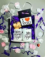 Подарочный набор Мистер и Миссис в подарочной коробке