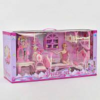 Кукла с мебелью для девочки. Детская куколка, гнутся ручки и ножки. Игровой набор