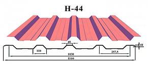 Профнастил c полимерным покрытием Н-44 0.4 мм, фото 2
