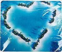 Коврик для мышки тканевый, Пальмовое сердце, 18х22см