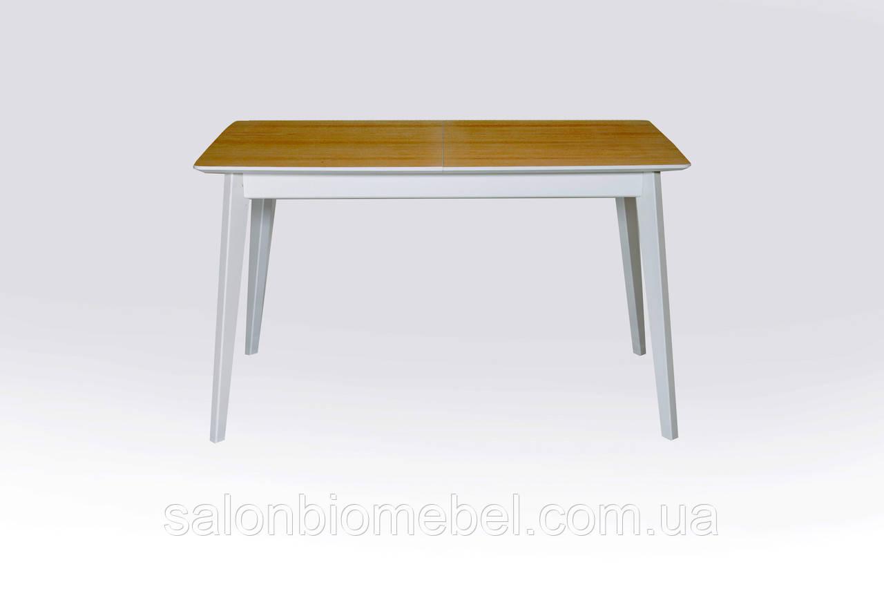Стол обеденный деревянный раскладной Сингл ясень/белый