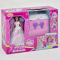"""Кукла с мебелью """"Спальня"""". Детская куколка, игровой набор кукольная спальня"""