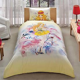 Постельное белье Tac Disney - Winx Stella Water Colour 160*220 подростковое