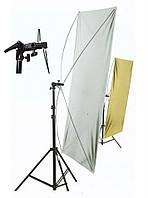 Рефлекторные экраны (золотой/серебряный, серебряно/белый) 90 x 180 см (38063)