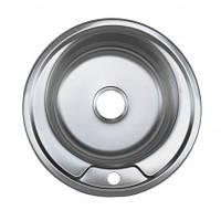 Врезная кухонная мойка Platinum 490*180 0.8 Satin, фото 1