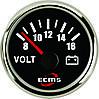 Вольтметр ECMS PMV2-BS-8-16 (черный)
