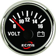 Вольтметр ECMS PMV2-BS-8-16 (черный), фото 1