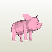 Полигональная модель Свинка в подарочной упаковке