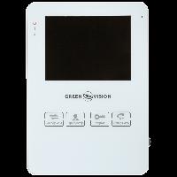 """Видеодомофон цветной 4"""" Green Vision GV-051-J-VD4SD белый"""