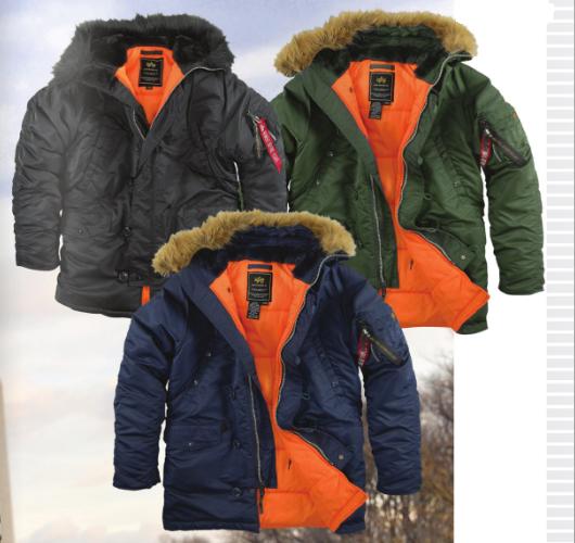 Зимние куртки Alpha Industries