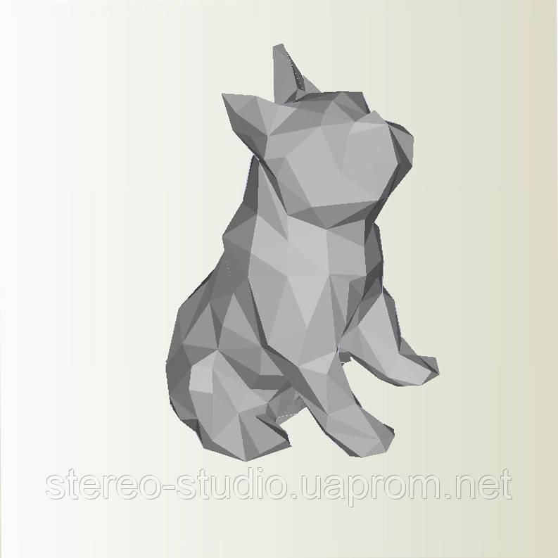 Полигональная модель Собака в подарочной упаковке