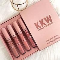 Набор матовых кремовых помад Kylie KKW Crème Liquid Lipstick, 4шт
