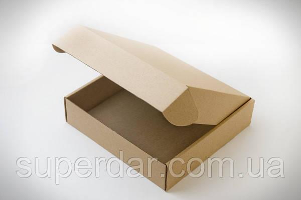 Самосборная коробка для печенья, конфет и изделий Hand Made, 200х200х50 мм, бурая