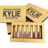 Губная помада (набор из 6 шт) Kylie Birthday Edition (8607)