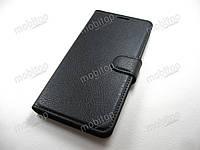 Кожаный чехол книжка ASUS ZenFone 4 Max ZC554KL (черный), фото 1