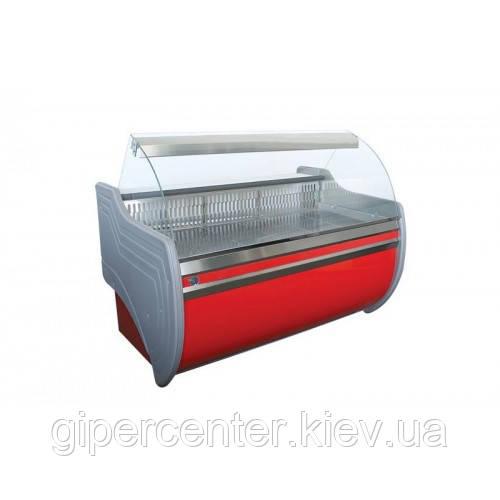 Холодильная витрина Айстермо ВХСК ОРБИТА 1.3 Д (0...+8°С, 1300х1000х1200 мм, гнутое стекло)