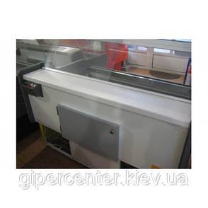 Холодильная витрина Айстермо ВХСК ОРБИТА 1.3 Д (0...+8°С, 1300х1000х1200 мм, гнутое стекло), фото 2