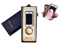 """USB зажигалка-брелок """"IPhone"""" (спираль накаливания) №4812"""