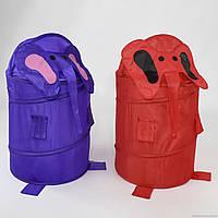 """Корзина для игрушек F 21491 (60) """"Слоник"""" фиолетовый, красный 42х75см"""