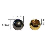 Декоративна гайка-кулька (м-10) (Chrome) (Gold) [ КУЛЬКА ГЛАДКИЙ ], фото 1