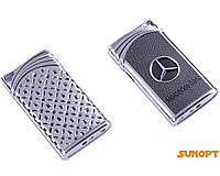 Зажигалка газовая Mercedes-Benz (Острое пламя) №4848 Серебро