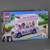 """BRICK 1112 (48) """"Машина - Мороженое"""" 213 дет, в коробке СОБРАННЫЙ"""
