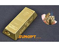 Зажигалка карманная Слиток Золота (Острое пламя) №XT-2973