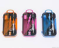 Готовальня 01554 (144) 3 цвета, 9 предметов, в коробке