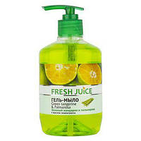 Жидкое гель-мыло Fresh Juice Green Tangerine&Palmarosa (зелений  мандарин) 460 мл с дозатором