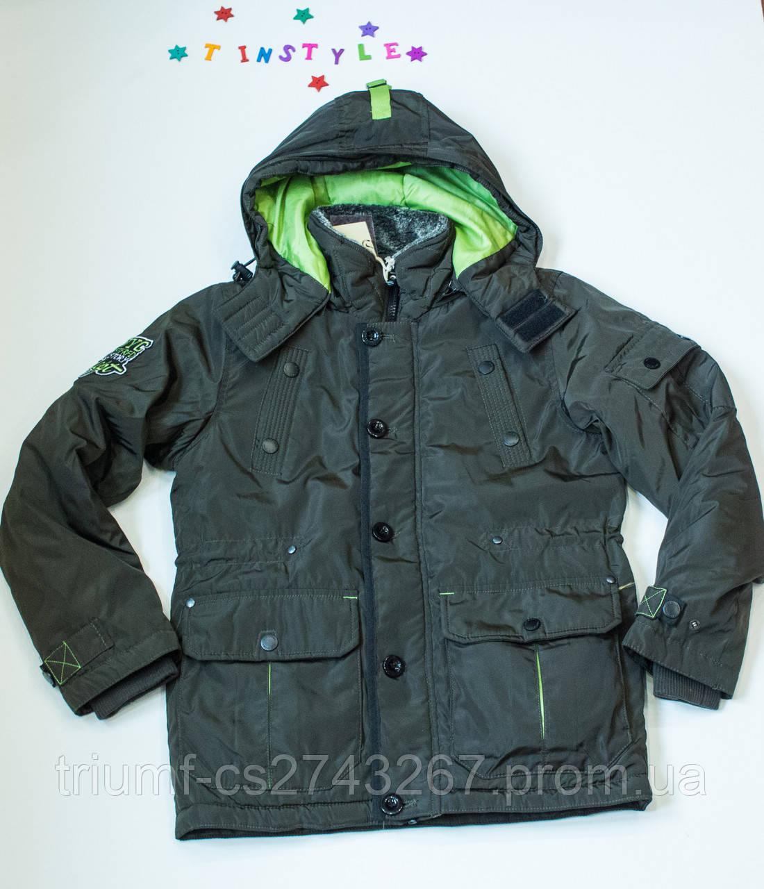 Теплая Куртка-парка Демисезон на Мальчика (рост 134-140 См) — в Категории