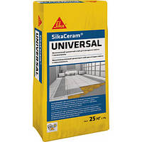 Эластичный клей для плитки СикаКерам Универсал / SikaCeram Universal (серый) уп. 25 кг