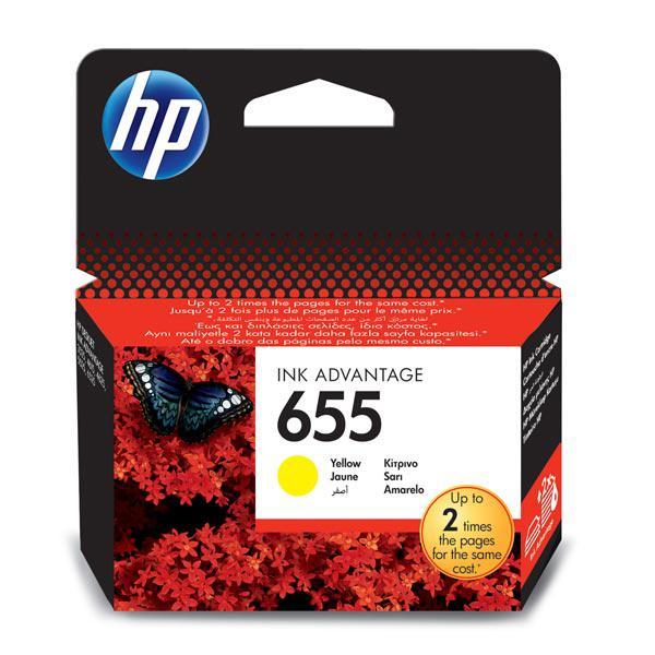 Картридж HP 655 Yellow Deskjet Ink Advantage 3525, 4615, 4625, 5525, 6525 (CZ112AE) 9ml
