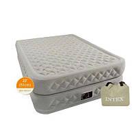 Велюр кровать 66964 высокая, односпальная, с функцией памяти и встроенным насосом 220 V 99-191-51,см