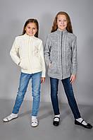 Детская вязанная теплая кофта для девочки