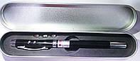 Ручка с лазерной указкой, телескопической, фонариком в металлическом футляре