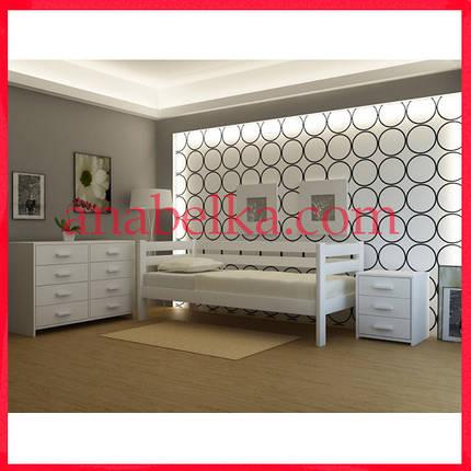 Кровать деревянная  Женева  (Анабель) , фото 2