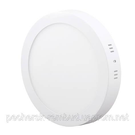 Светильник светодиодный ДПП 18Вт круглый серый, фото 2