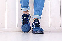 Кроссовки мужские Nike Zoom синие топ реплика, фото 3
