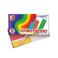 Пластилін Промінь Класика 6 кольорів